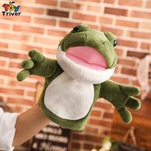 30cm pluszowa zielona żaba pacynka lalki interaktywne gry rodzic-dziecko prezenty na urodziny, boże narodzenie prezent dla dziecka dzieci Triver