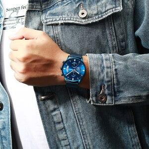 Image 5 - Relógio de pulso de aço inoxidável dos homens à prova dmilitary água militar data relógios de quartzo relogio masculino