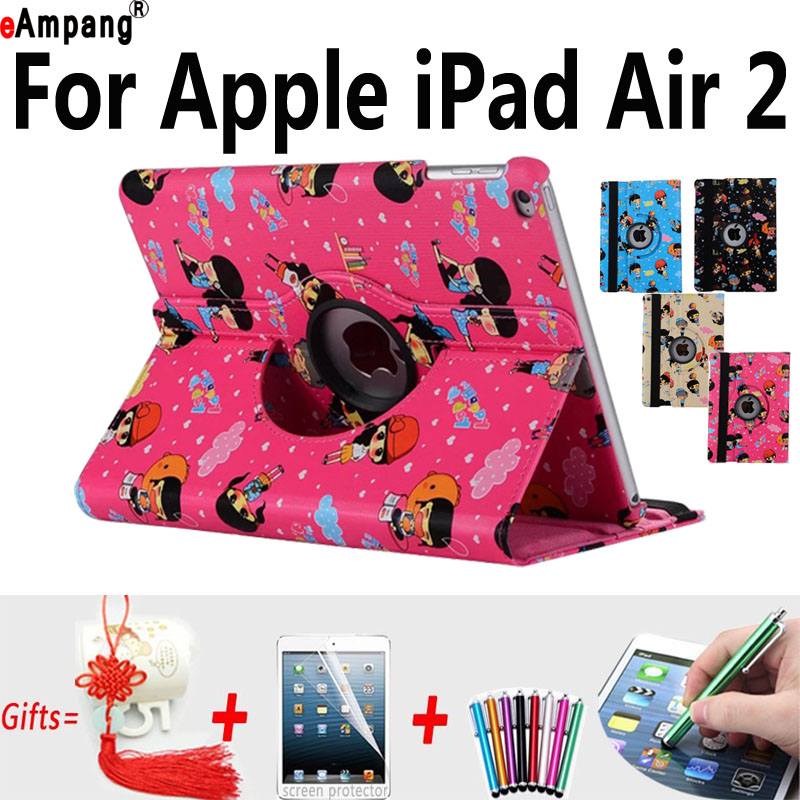 Character Case for Apple iPad Air2 Cartoon Smart Cover for iPad Air 2 9 7 Protector