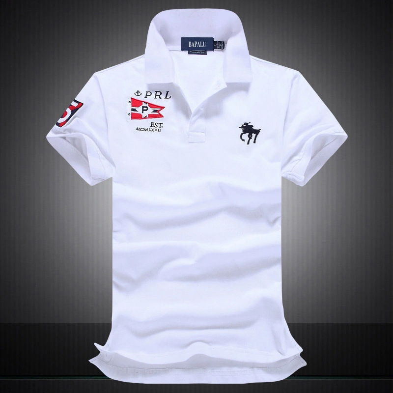 2019 Famous Brand 100% Cotton Men   Polo   Shirts Short Sleeve pxg golf big horse logo Man   Polo   Shirt Embroidery   polo     Polos   men