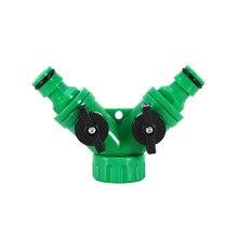 Прочный ABS Пластиковый Шланг Инструмент Splitter 2 Way Разъем 2 Way Кран Садовый Шланг Трубы Splitter Садово-Огородного инвентаря