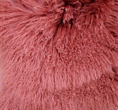 CX-G-B-51C настоящий монгольский овечка меховой жилет женский сексуальный короткий жилет зимнее пальто Меховая куртка - Цвет: Кораллово-Красный