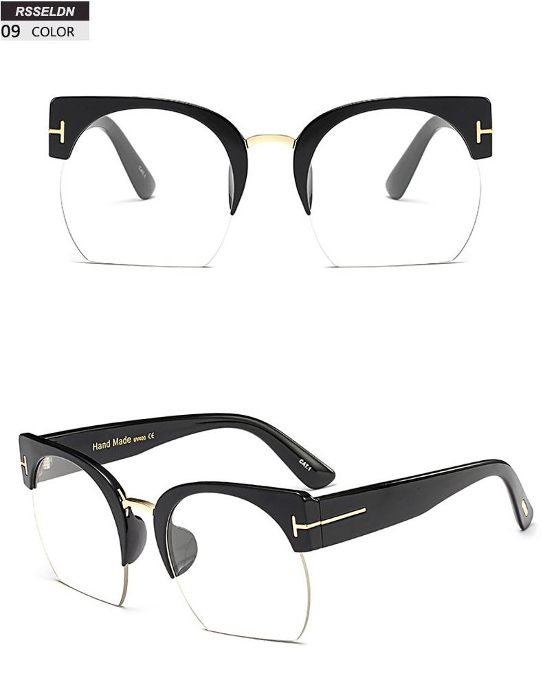 HTB1jjNUSpXXXXcCXVXXq6xXFXXX0 - RSSELDN Newest Semi-Rimless Sunglasses Women Brand Designer Clear Lens Sun Glasses For Women Fashion Sunglass Vintage oculos