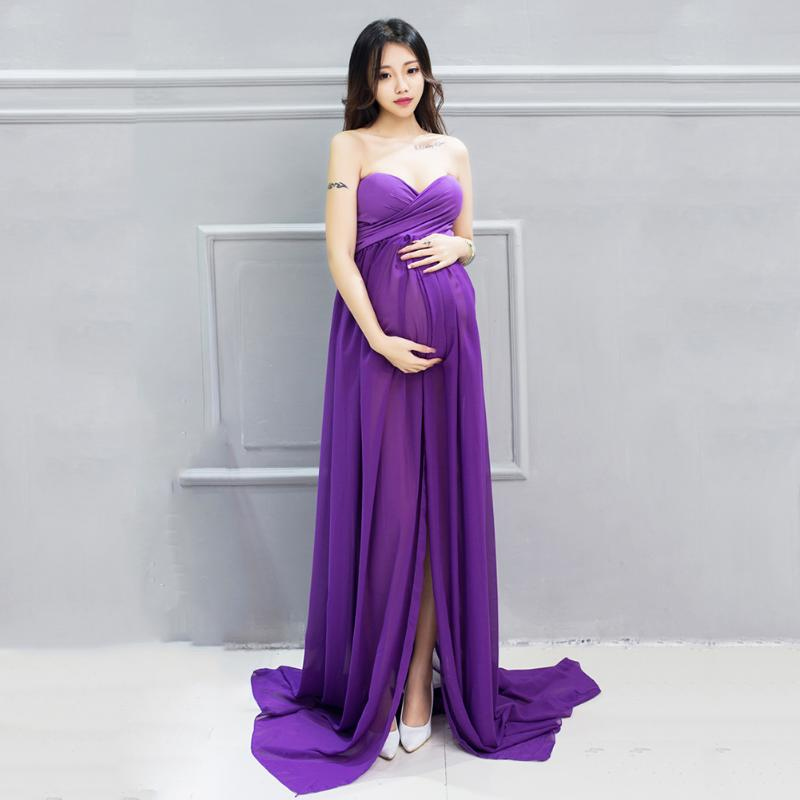 Maternity Cotton Sweet Dress Pregnancy Photography Props Clothes For Pregnant Photo Chiffon Dress + Shorts Set