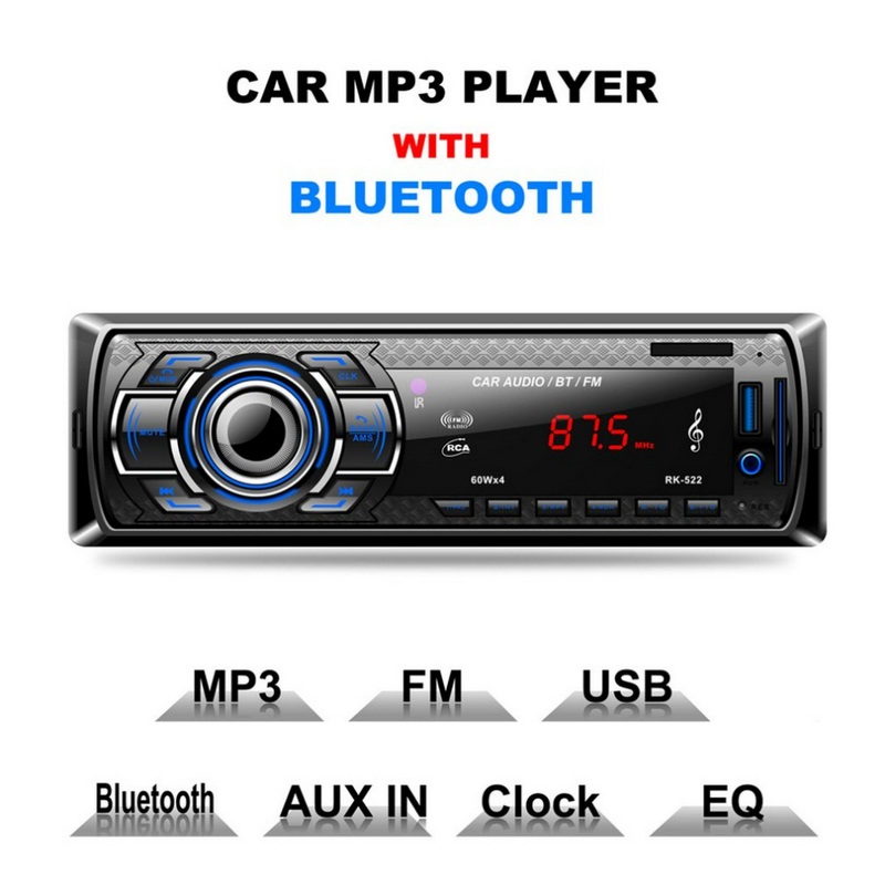 Image 2 - RK 522 Car MP3 Player AUX Built in Bluetooth Hand free Auto Bluetooth Radio USB 2.0 1din Stereo Car MP3 Radio Player Bluetooth-in Car MP3 Players from Automobiles & Motorcycles