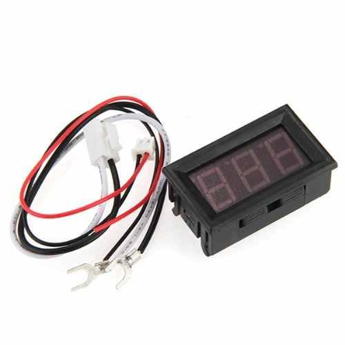 Мини цифровой амперметр светодиодный панельный метр 0-50 светодиодный красный
