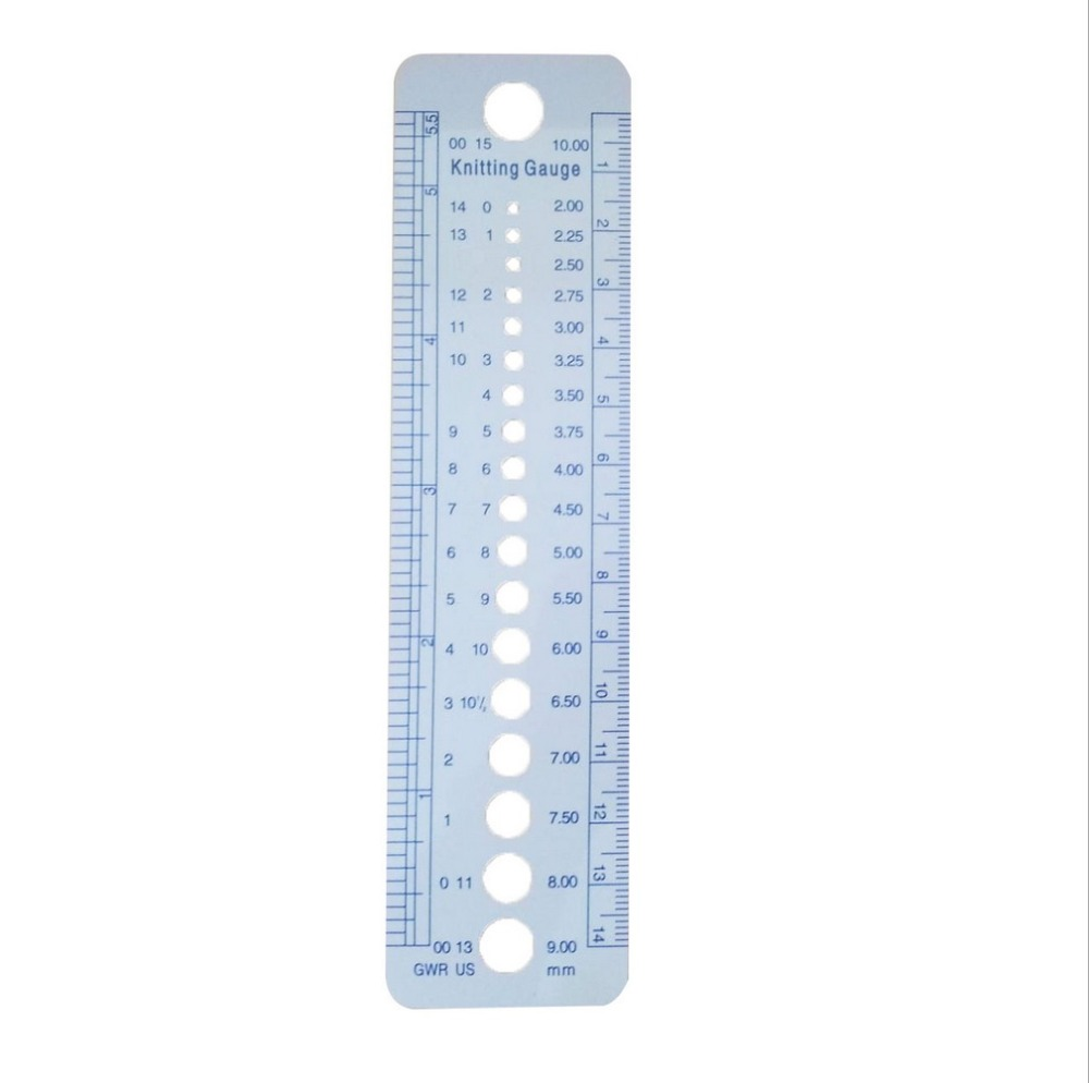 1 PC UK US Canada Knitting Needle Sizes Gauge Inch Cm