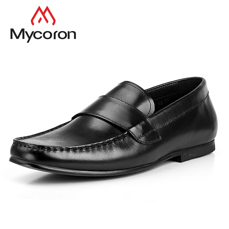 Mycoron Summer Breathable Men Casual Shoes High Quality Genuine Leather Shoes Slip On Men Leather Loafers Sepatu Casual Pria mycolen 2018 new summer breathable men casual shoes slip on male fashion footwear height increasing sneakers sepatu casual pria
