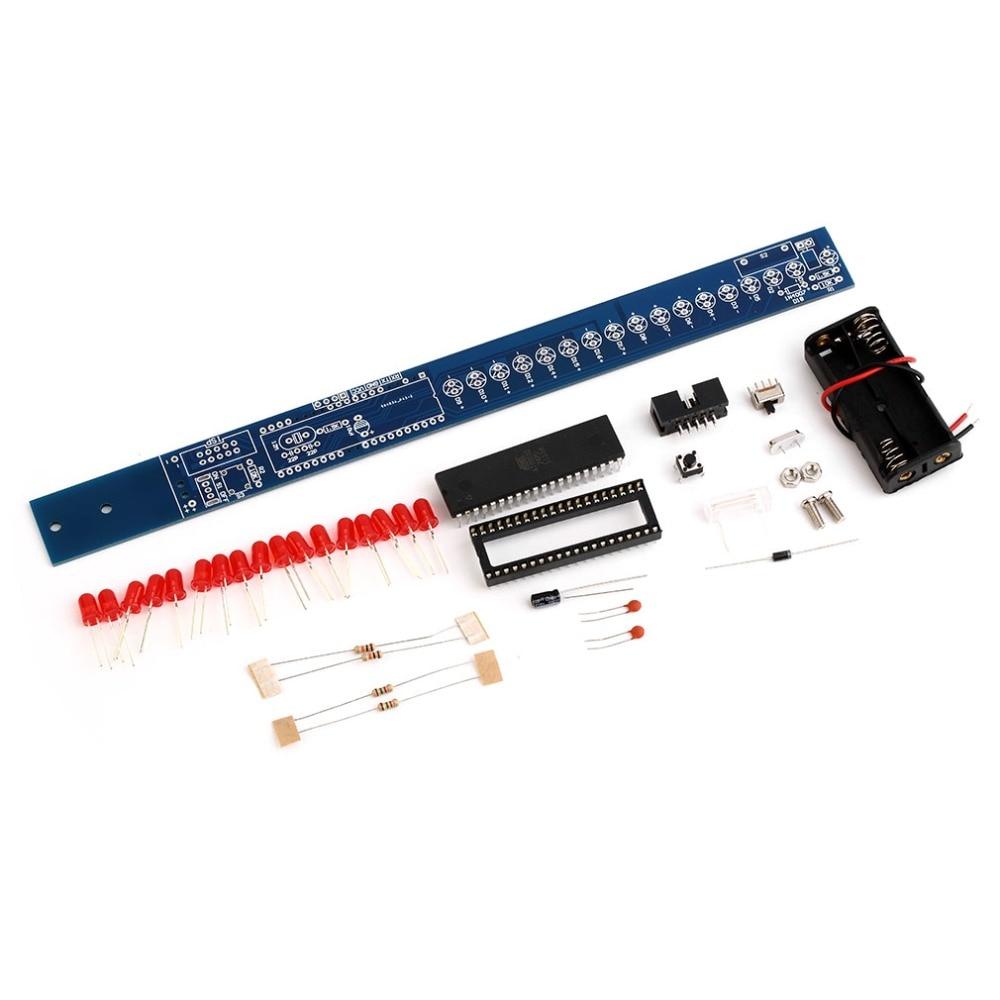 In Stock LDE Shake Stick Flash Stick AT89S52 DIY Kit Magic Wand Blank PCB board Free Shipping