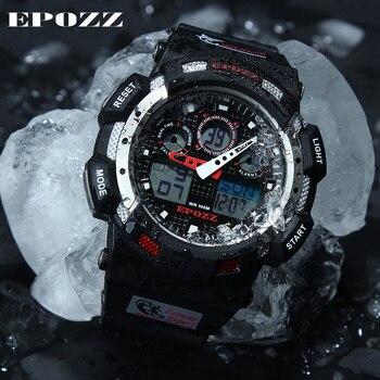 2017 white Color Fashion Digital Mens Watch S Shock G Style Analog Male Wristwatch EPOZZ Waterproof Dive Relogio Masculino E3001 3