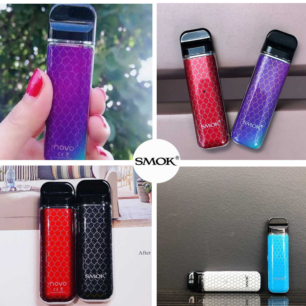 Original SMOK Novo Kit Fresh Vaping Anti-Leaking Mini Vape Pen Stick with  450mAh Battery Pods Coil Cartridge Tank Accessories
