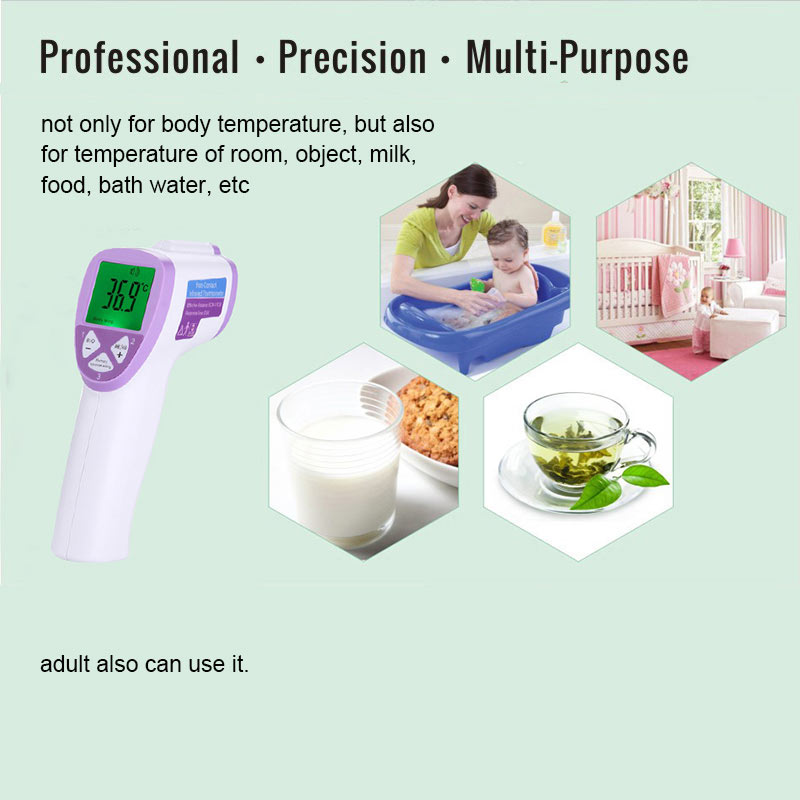 Diagnostic-tool Digital Thermometer Forehead For Baby Non Contact Infared Thermometer Body Temperature Measure 3-Color Backlight
