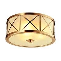 Европа, настоящая латунь, потолочные светильники, Скандинавское стекло, абажур, светодиодная лампа для домашнего магазина, роскошная декор