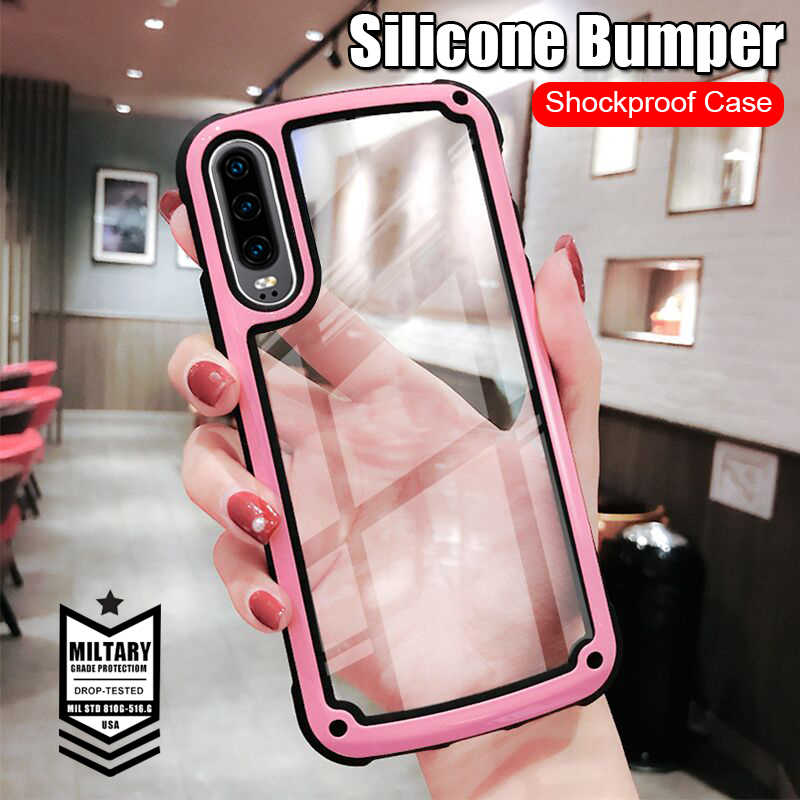 Luxury Armor Shockproof Phone Case For Huawei P20 P30 Pro Mate 20 Pro Soft Cover For Huawei P Smart 2019 P20 Lite Bumper Case