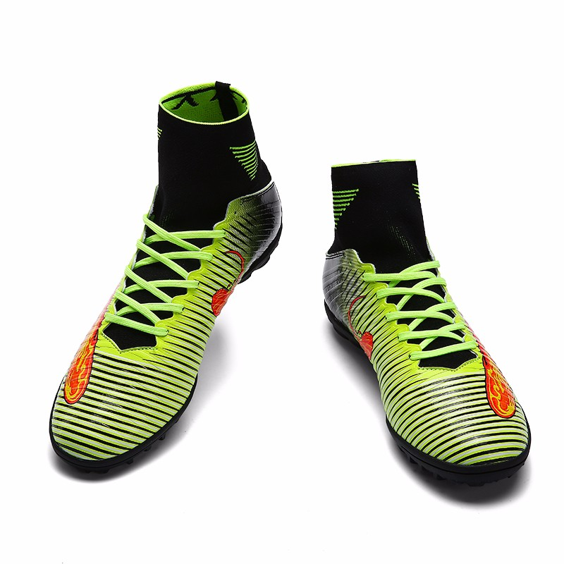 2017 High Quality Cheap Indoor Soccer Shoes Cleats High Ankle Kids Football Boots Superfly Original Boys Girls Sneakers17