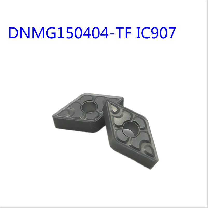 10pcs DNMG150404 TF IC907 DNMG150408 TF IC907 cnc carbide turning inserts in Turning Tool from Tools
