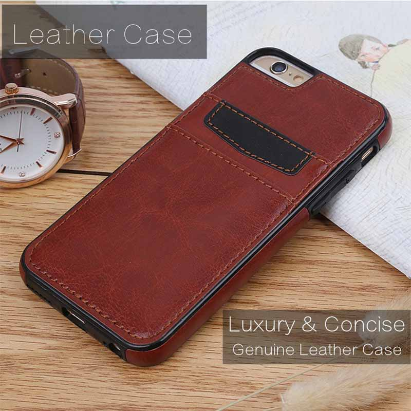 New Arrival Luxury Concise Soft Leather Back Case Cover Skin With Card Slot for iPhone X 5 6 7 8 Plus for Samsung Galaxy S8 Plus