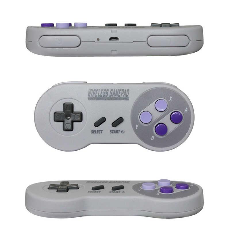 Wireless Gamepads 2 4GHZ Joypad Joystick Controller for SNES Super Nintendo  Classic MINI Console remote Accessories