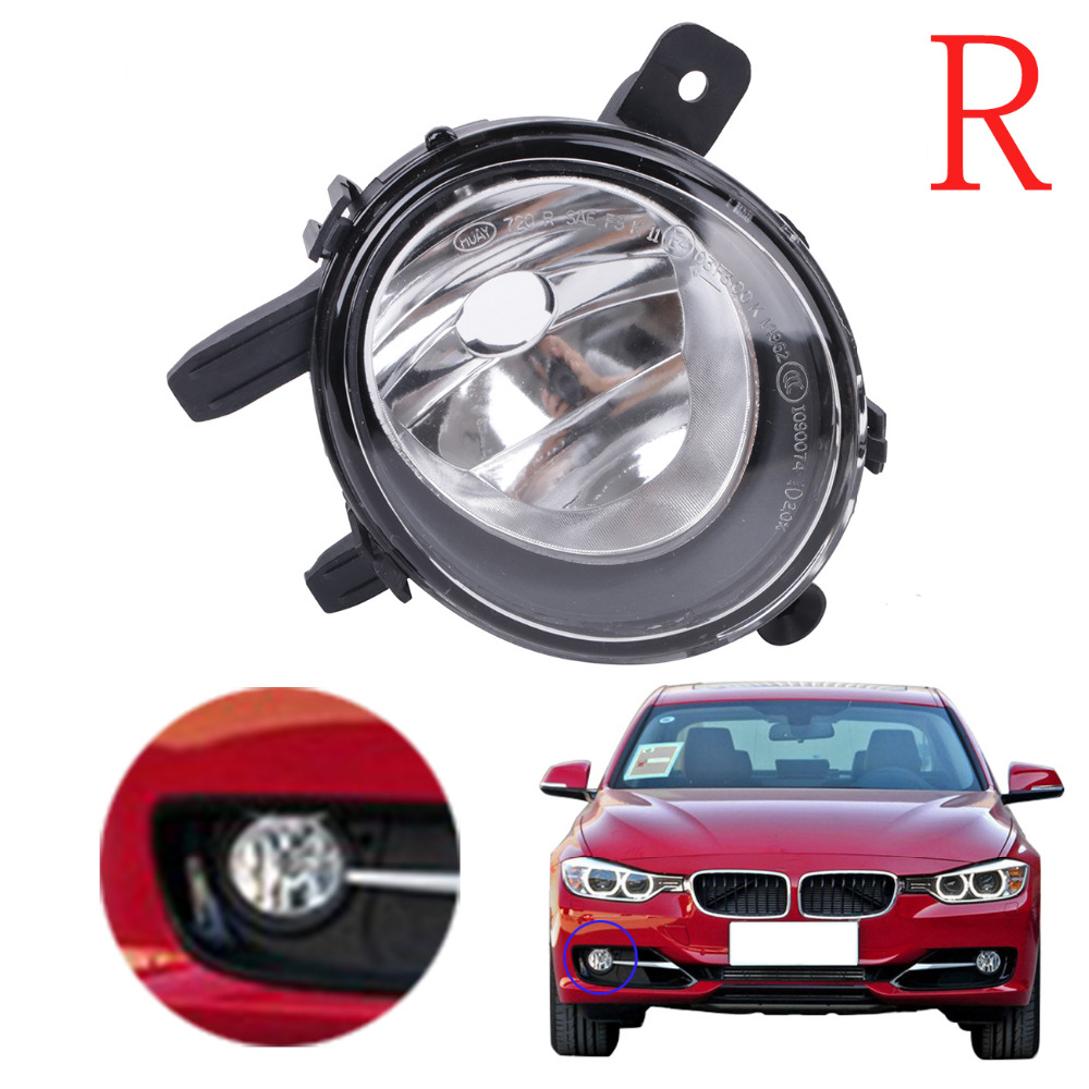Right Front Bumper Fog Light Head Foglamp For BMW F22 F30 F35 320i 328i 335i 3-Series 2012 - 2015 OEM 63177248912 #3079-R front kidney grille bumper grill for bmw f30 f31 f35 320i 328i 335i 2010 2011 2012 2013 2014 glossy black car styling p356
