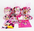 92 pcs Minnie Mouse Decorações da Festa de Aniversário Do Bebê Crianças Evnent Congelamento Fontes Do Partido Decoração Do Partido