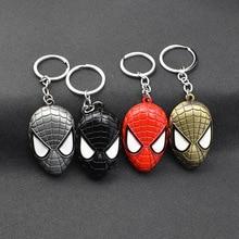 цены 2019 Metal Marvel Avengers Captain America Shield Keychain Spider man Iron man Mask Key chain Toys Hulk Batman Key Gift Toys