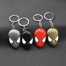 2019 Metal Marvel Avengers Captain America Shield Keychain Spider man Iron man Mask Key chain Toys Hulk Batman Key Gift Toys(China)
