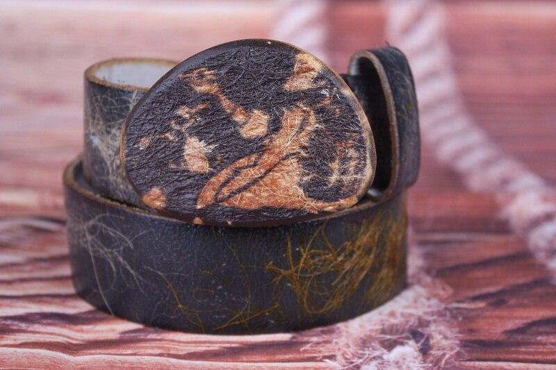 2016 New Retro Men belt wooden buckle 100% cow leather belts jeans trend punk rock strap decoration belt gift for Christmas