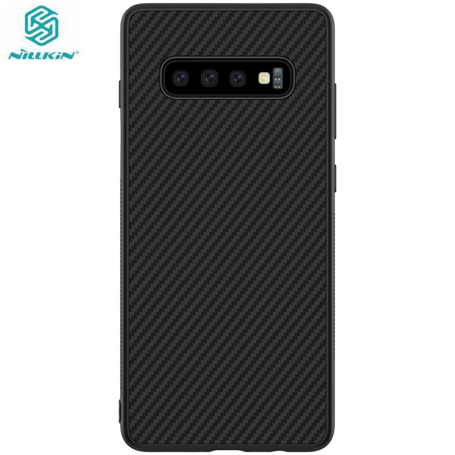 Case voor Samsung Galaxy S10 Plus S10 + S10E Nillkin Synthetische Fiber Carbon Fiber PP Back Cover sFor Samsung Galaxy s10 Plus Case