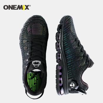 New air running shoes for men sneakers lightweight colorful reflective mesh vamp Black Sneaker Air Cushion Athletic Trainer Man