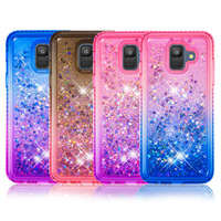 Liquid case on for Samsung Galaxy Note9 case cover For Coque Samsung A6 Plus Glitter Soft TPU phone cases