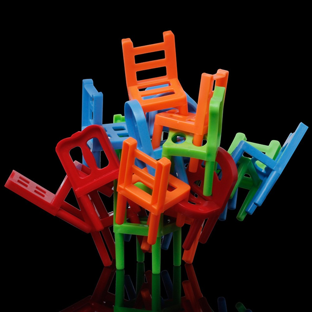 Kids stacking chairs - Plastic Children Balance Stacking Chairs Block Toy Desk Playing Game For Kids Child Educational Game Balancing