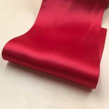 4 дюйма, 100 мм, 10 см, одноцветная, не выцветающая, двусторонняя атласная лента, отлично подходит для украшения стула, аксессуары для декора, Свадебная подарочная упаковка