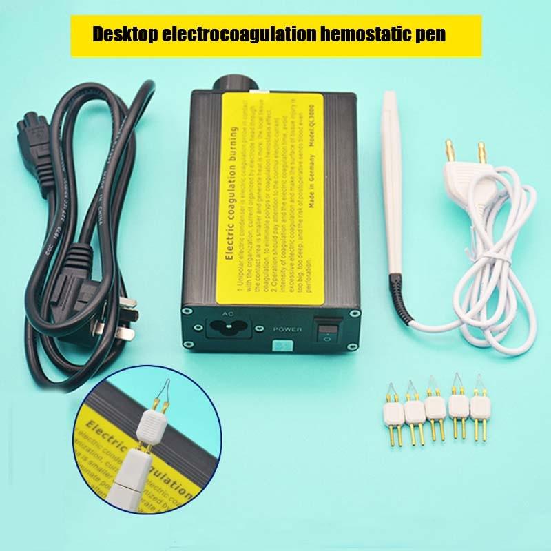 Electrocoagulation Stylus Hemostat Metal Case Stop Bleeding During Surgery Electric Coagulation Pen Adjustable Temperature
