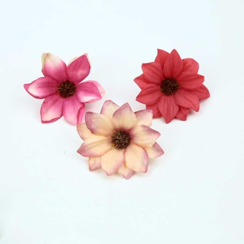 Flores artificiais da parede da flor da margarida de seda para a decoração do casamento em casa acessórios de noiva apuramento plantas falsas diy grinalda de natal