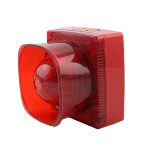 Image 2 - Strobe Sirene Sound und Licht Feuer Alarm Wasserdichte Herkömmlichen Strobe Sounder Red Flash Licht und Horn
