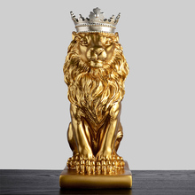 Gold White/Black Crown Lion Sculpture Home Decoration Nordic Decorations Modern Living Room wine cabinet office desk accessories
