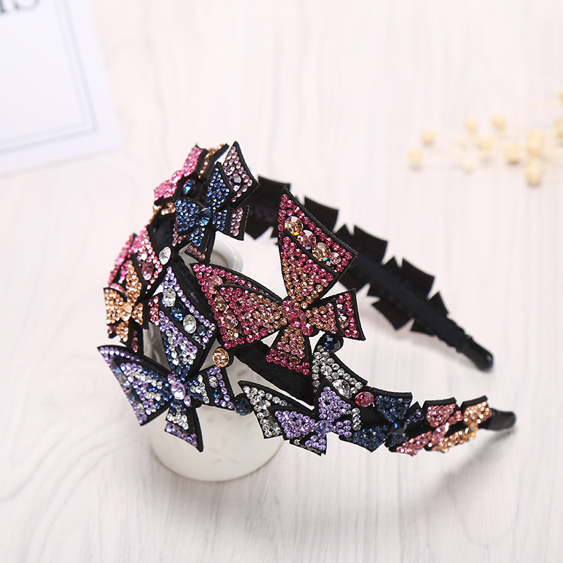 Korean Simple Girl Elegant Headbands Crystal Rhinestone Butterflys Hairbands for Women Fashion Full Diamond Hair Accessories