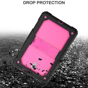 """Image 3 - Capa galaxy tab a 8 """"para crianças, proteção resistente ao impacto, capa com suporte, 10.5, 2018, t590 t595 alça de ombro"""