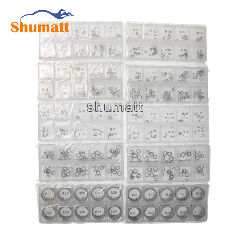 1000pcs Common Rail Parts Brand 120 Series Fuel Injector Valve Assy Adjustment Washer Shims B13 B14