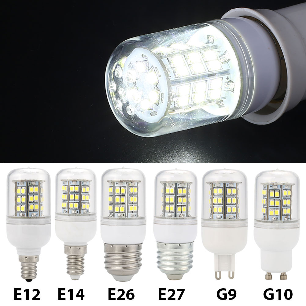 Lights & Lighting E12 E14 E26 E27 G9 Gu10 220v 7w Corn Smd Led Bulb Home Bedroom Light Pure White Relieving Heat And Thirst.