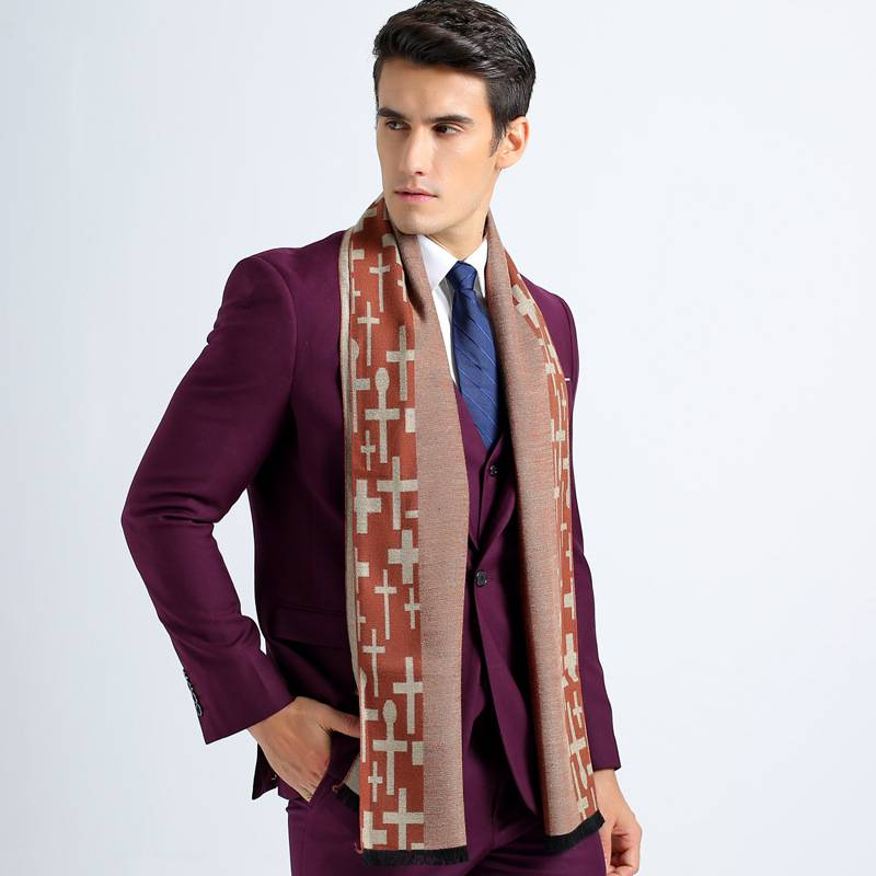 Winter Cotton Scarves Men Fashion font b Tartan b font Scarf Scarf Luxury Brand Business Cashmere