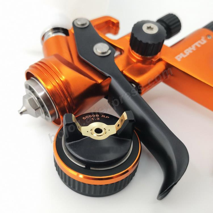 Image 4 - Golden environmental Limited Edition Porsche Design RP Spray Gun 1.3 Nozzle w/t cup for Car Paint Sprayer pistol.-in Spray Guns from Tools on