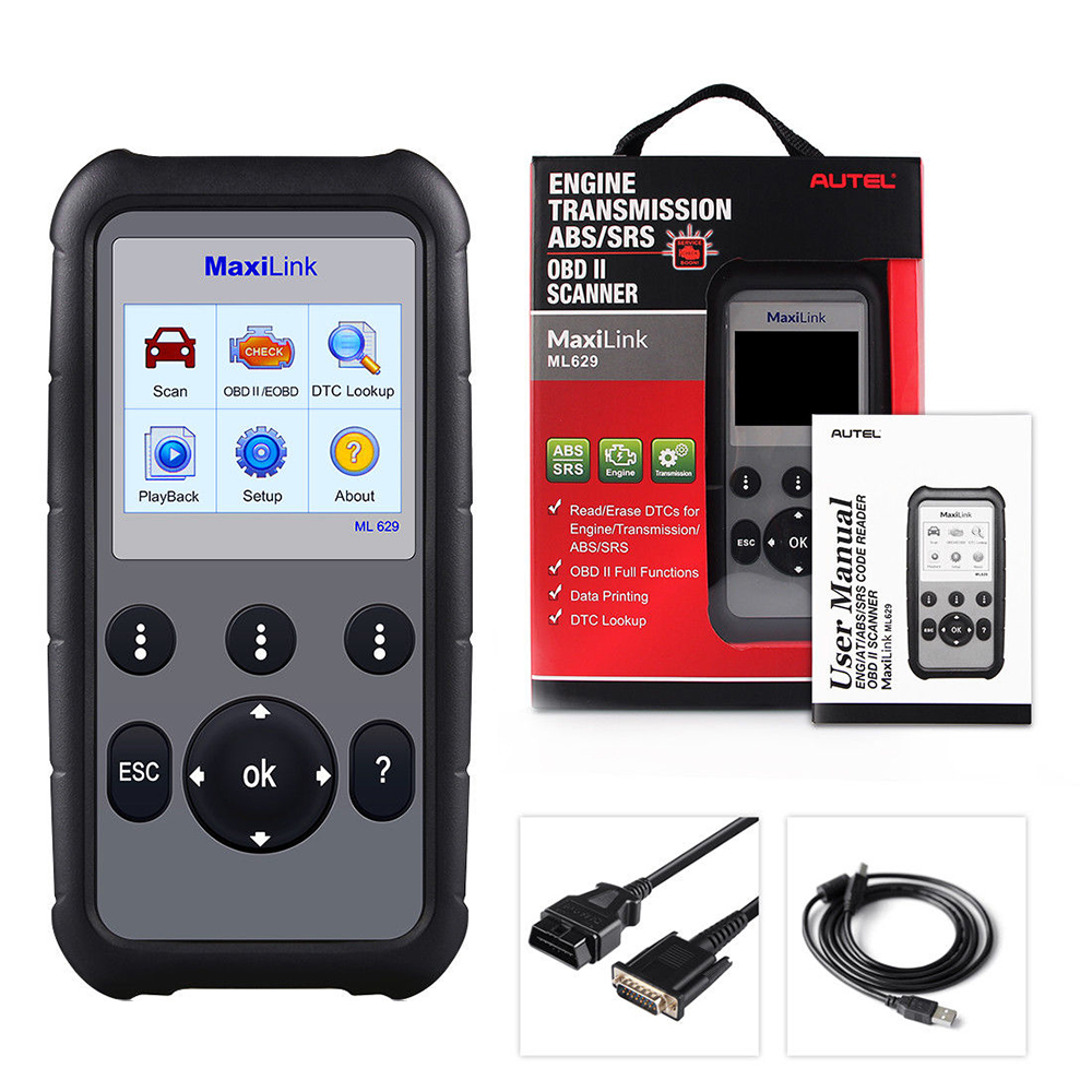 Image 5 - Autel ML629 OBD2 Scanner Car Diagnostic Tool Code Reader +ABS/SRS Auto Tool, Turns off Engine Light (MIL) and ABS/SRS