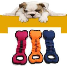 Dog toy bone type Oxford cloth training interactive bite rod pull ring Pet bite toy spot(China)