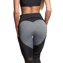 Sexy Heart Yoga Pants Women Patchwork Yoga Leggings Women Push Up Leggins Women Leggings Fitness Running Sport Pants Women