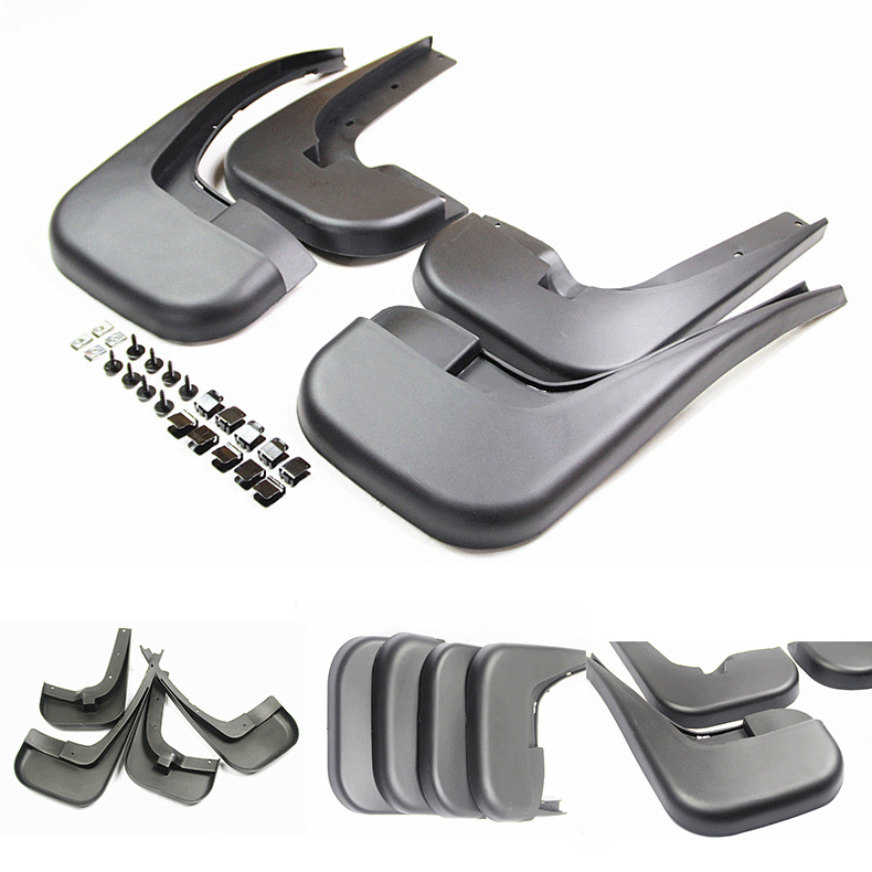 Free Shipping Car Accessories High Quality Splasher Mudguard Mud Guards Flaps Splash Guards Fit For Mercedes
