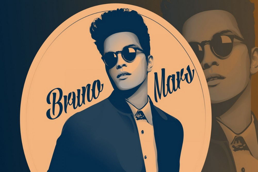 fabric poster custom print BRUNO MARS pop reggae soul Rock and R&B PRW023 wall art room decor home decoration (frame available)