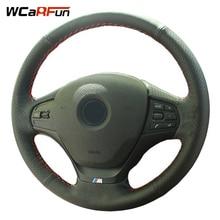 WCaRFun Hand-Stitched Black Artificial Leather Car Steering Wheel Cover for BMW 320i 328i F30 316i туфли marino fabiani туфли