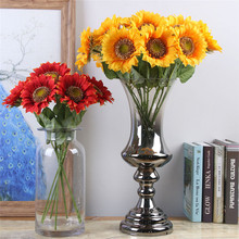 10pcs/set Artificial Sunflower Flower Silk Fake Plant For Wedding Home Party Decoration