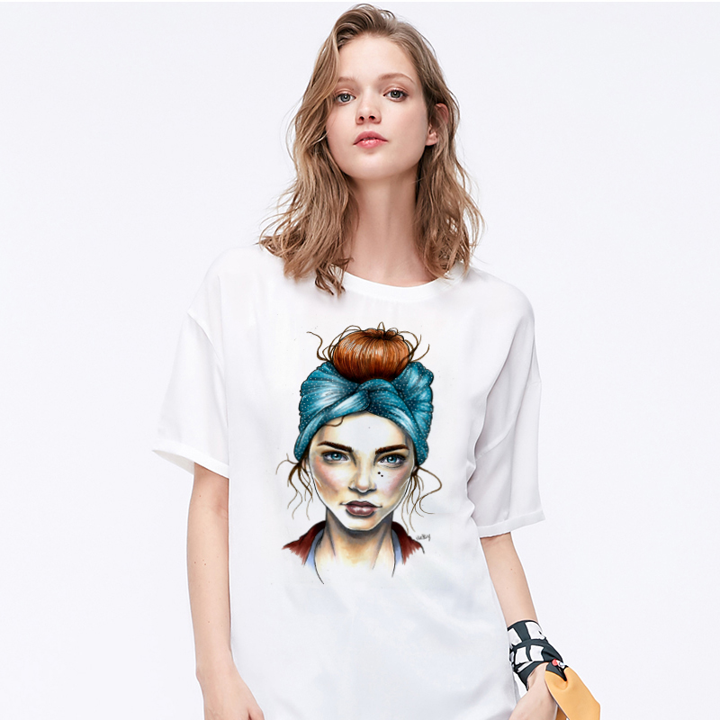 Summer 19 T shirt Women Harajuku Print Vintage Female Casual Fashion Tshirt O-neck Short Sleeve T-shirt White Tops Clothing 4